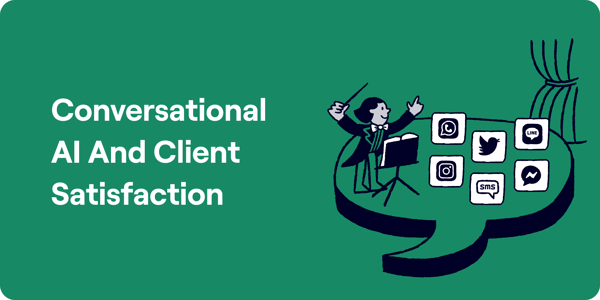 Conversational AI And Client Satisfaction Illustration