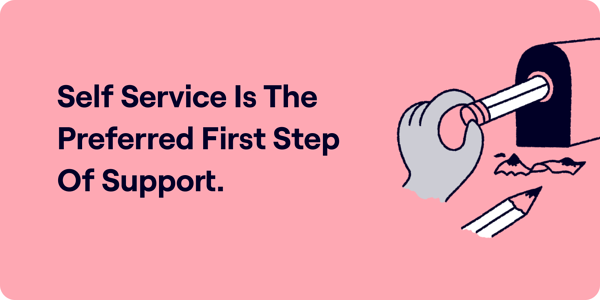 Self Service Is The Preffered First Step Of Support Illustration
