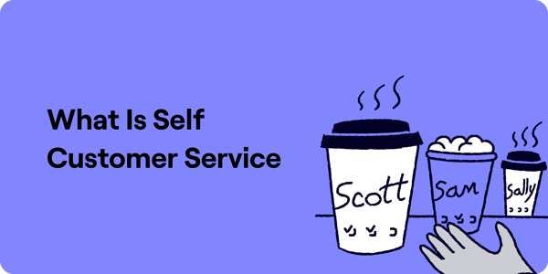 What is Self Customer Service Illustration