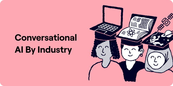 Conversational AI by Industry Illustration
