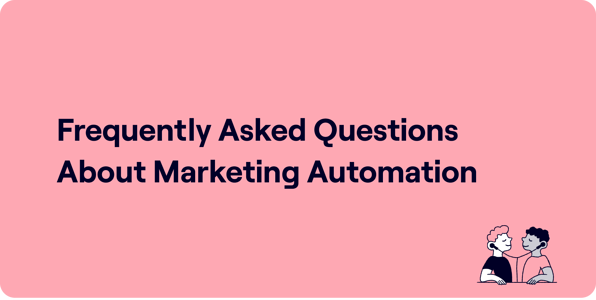 Frequently asked questions about marketing automation Illustration