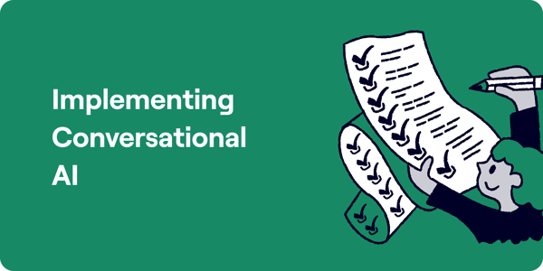 Implementing Conversational AI Illustration