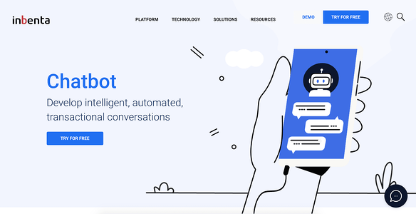 Inbenta AI Chatbot illustration
