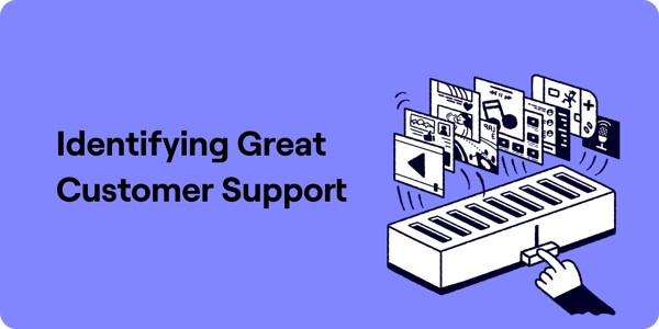Indetifying great customer support Illustration