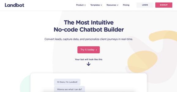 Landbot AI Chatbot Illustration