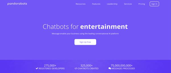 Pandorabots AI Chatbot Illustration