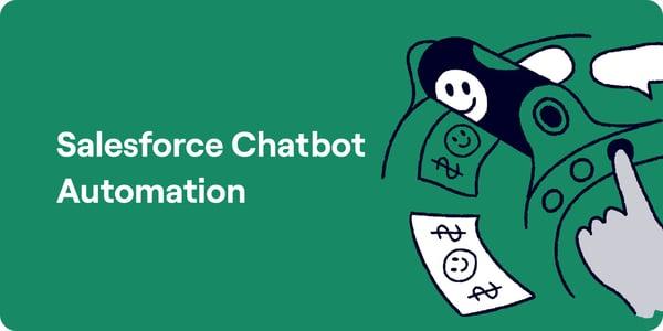 Salesforce chatbot automation Illustration