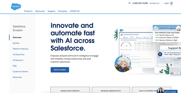 Salesforce Einstein AI Chatbot Illustration