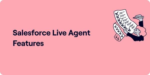 Salesforce live agent features Illustration