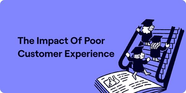 The impact of poor customer experience on users Illustration