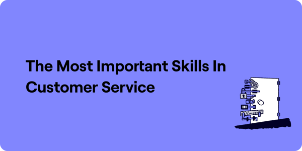 The most important customer service skills Illustration