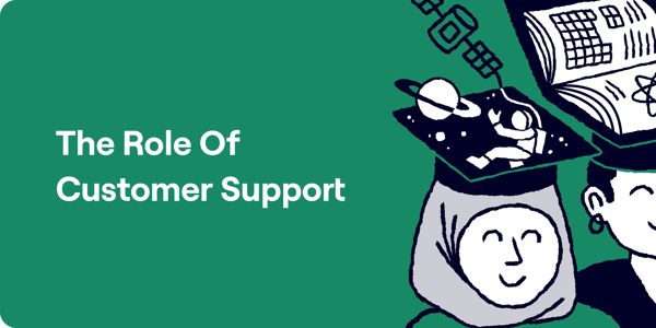 The role of customer support Illustration