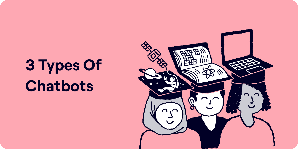 Three types of chatbots Illustration