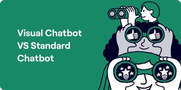 Visual Chatbot vs Standard Chatbot Illustration