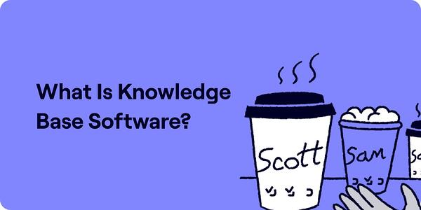 What is knowledge base software Illustration