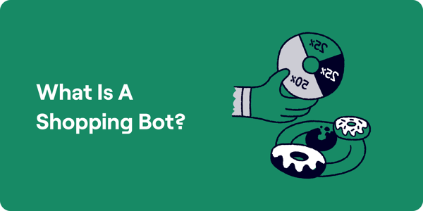 What is a Shopping Bot Illustration