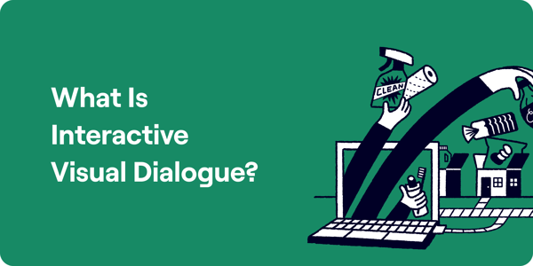 What is interactive visual dialogue illustration