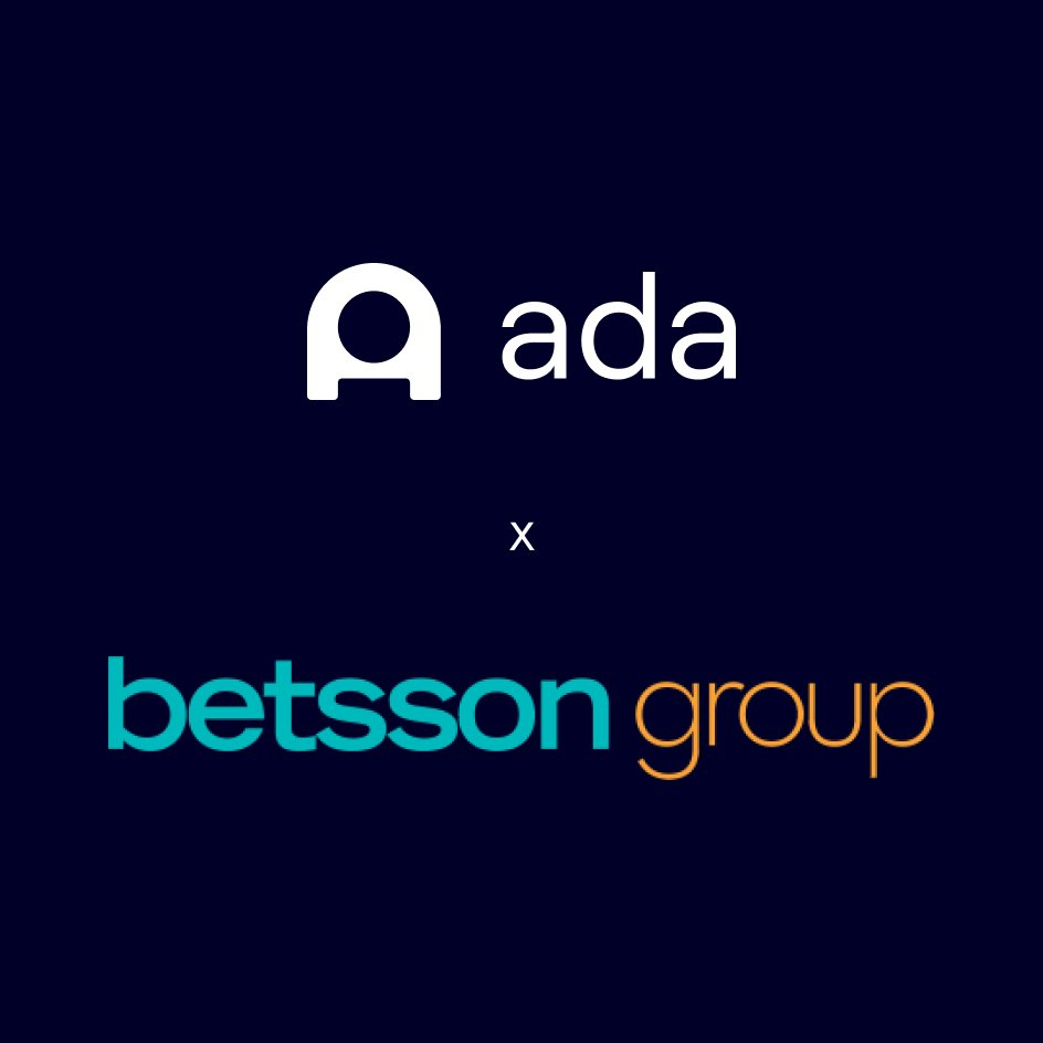 Betsson Group Bets on Ada as its Official Automated Customer Experience Partner